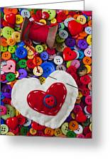 Heart Pushpin Chusion  Greeting Card