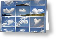 Heart Shaped Clouds - Collage Greeting Card