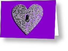 Heart Shaped Lock Purple .png Greeting Card
