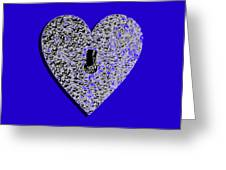 Heart Shaped Lock .png Greeting Card