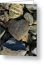Heart Shaped Stone Loch Fyne  Greeting Card