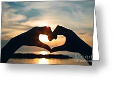 Heart Shaped Sunset Greeting Card
