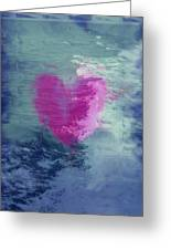 Heart Waves Greeting Card