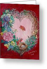 Heart Wreath Greeting Card