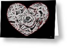 Heartline 1 Greeting Card
