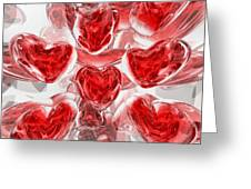 Hearts Afire Abstract Greeting Card