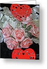 Hearts And Roses Greeting Card