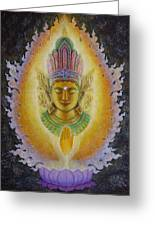 Heart's Fire Buddha Greeting Card