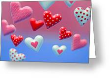 Hearts Hearts And More Hearts Greeting Card
