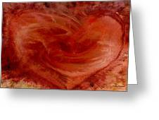 Hearts Of Fire Greeting Card