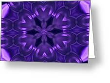 Hearts Of Purple Kaleidoscope Greeting Card