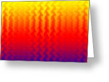 Heat Wave Abstract Design Greeting Card