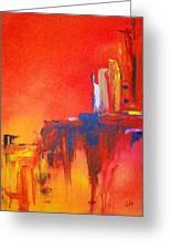 Heated Abstraction Greeting Card