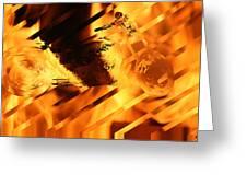 Heated Harley Greeting Card