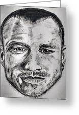 Heath Ledger Charcoal Sketch Greeting Card