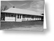 Heath Springs Railroad Depot Bw Greeting Card