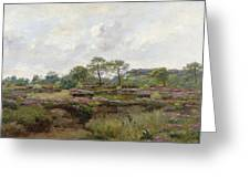 Heather Landscape Greeting Card