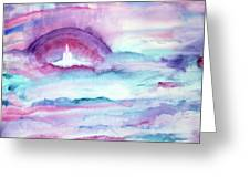 Heaven Awaits Greeting Card by Nancy Cupp