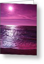 Heaven Shines Purple Greeting Card