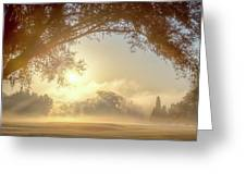 Heavenly Arch Sunrise Greeting Card