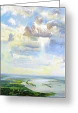 Heavenly Clouded Beauty Abstract Realism Greeting Card