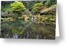 Heavenly Falls And The Swirly Lower Pond Greeting Card