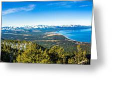 Heavenly South Lake Tahoe View 1 - Left Panel Greeting Card
