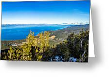 Heavenly South Lake Tahoe View 1 - Right Panel Greeting Card