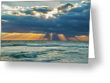 Heavenly Sunrise Panorama At Riviera Beach  Greeting Card