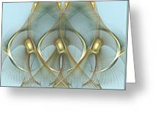 Heavenly Wings Of Gold Greeting Card
