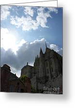 Heavens Above Mont St. Michel Abbey Greeting Card