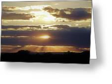 Heaven's Rays 2 Greeting Card