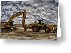 Heavy Duty Earth Movers Greeting Card