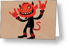 Heavy Metal Devil Greeting Card by John Schwegel