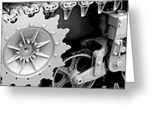 Heavy Metal In Gray Greeting Card