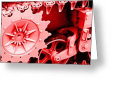 Heavy Metal In Red Greeting Card