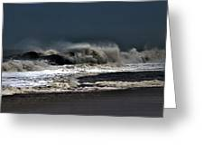 Stormy Surf Greeting Card