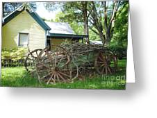 Heavy Wagon Load Greeting Card