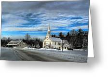 New Snow On Hebron Common Greeting Card