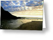 Heceta Head At Dusk Greeting Card