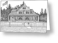 Heceta Head Bed And Breakfast Greeting Card