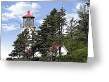Heceta Head Lighthouse - Oregon's Iconic Pacific Coast Light Greeting Card