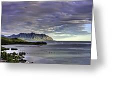 He'eia And Kualoa 2nd Crop Greeting Card