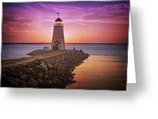 Hefner Lighthouse Greeting Card