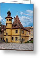 Hegereiterhaus Rothenburg Ob Der Tauber Greeting Card