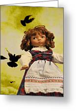 Heidi And The Birds Greeting Card