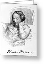Heinrich Heine, German Writer Greeting Card