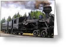 Heisler Steam Engine Number 6 Greeting Card