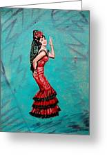 Helen In Teesri Manzil Greeting Card
