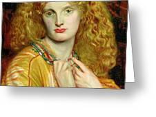 Helen Of Troy Greeting Card by Dante Charles Gabriel Rossetti